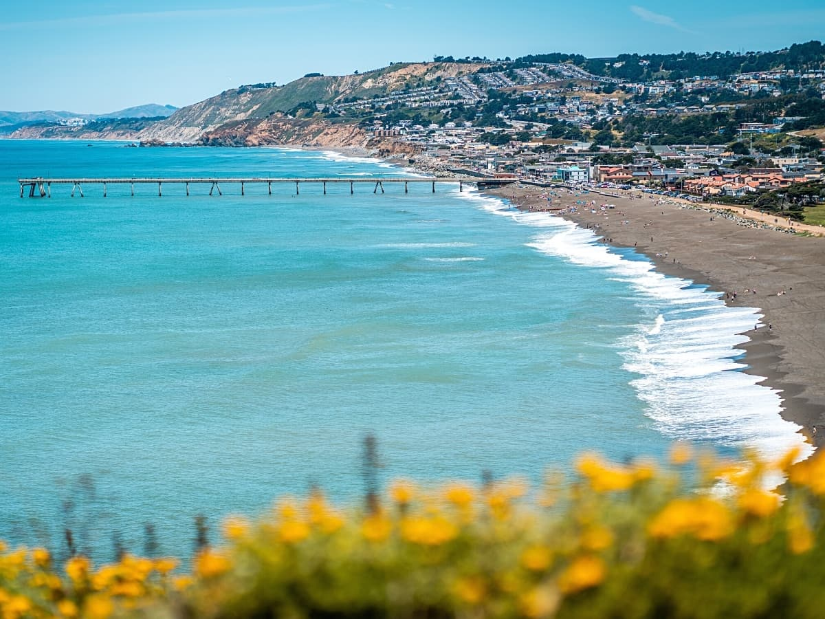 One of the cutest Northern California coastal towns, Pacifica has beaches, hiking trails and a famous Taco Bell!