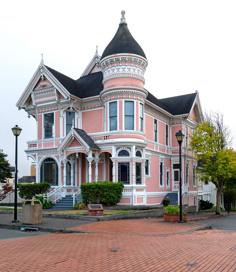 """The """"Pink Lady"""" is a Queen Ann style home across the street from the Carson Mansion in Eureka."""