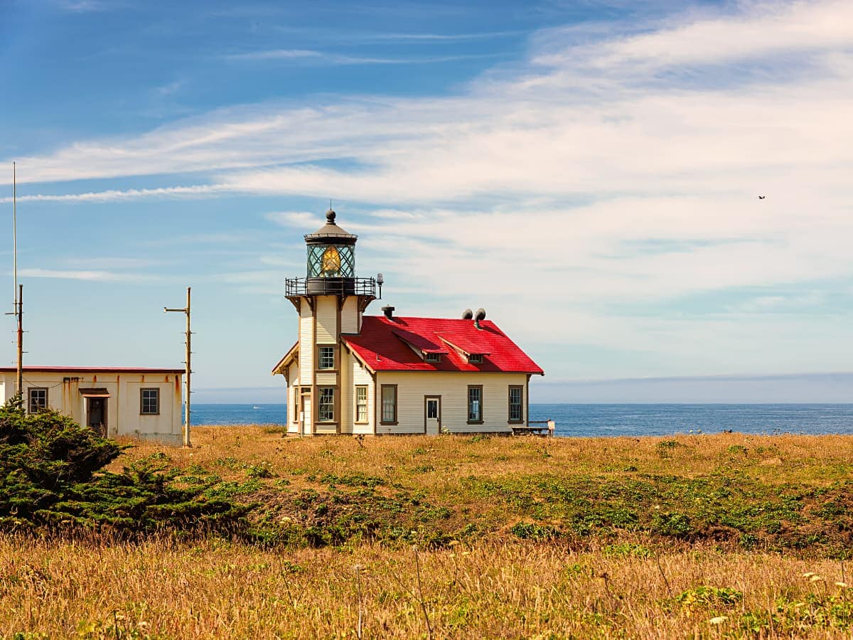 The Pt. Cabrillo Lighthouse is one of two restored lighthouses you can visit in Mendocino.