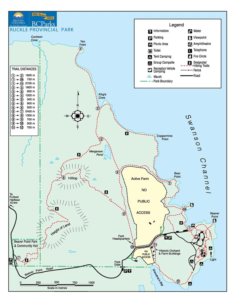 Ruckle Provincial Park Map