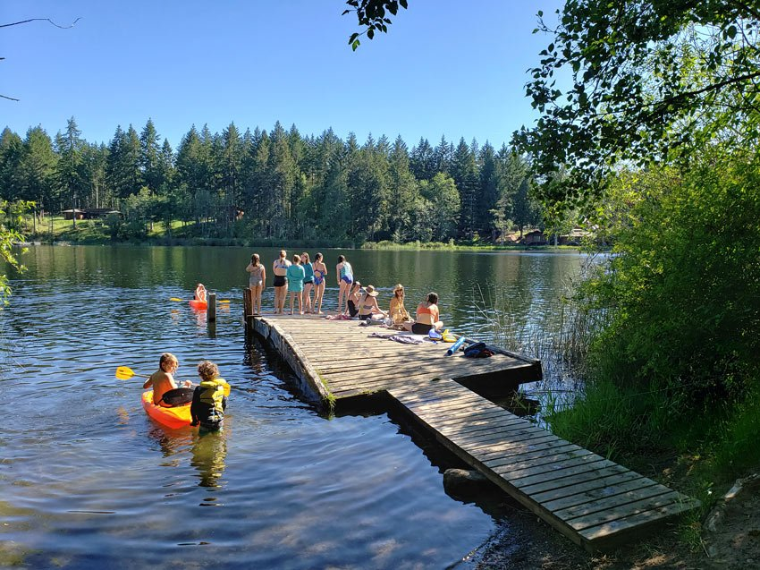 One of the best places to swim on Salt Spring Island is Cusheon Lake.