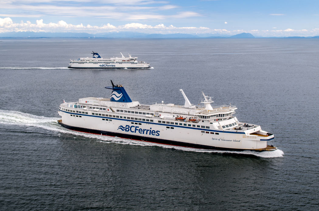 How to get to Victoria, BC, from Vancouver? BC Ferries offers regular service.