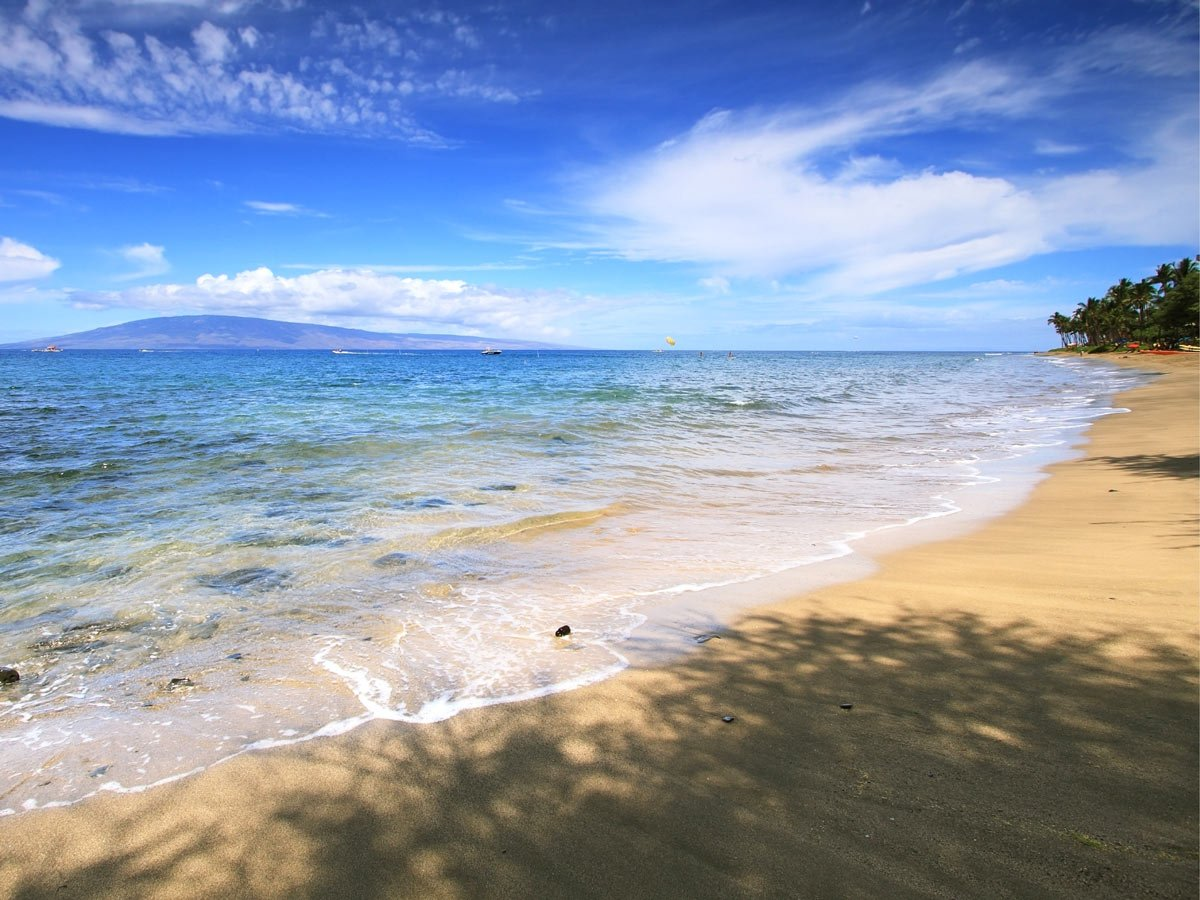 D.T. Fleming Beach is a nice quiet Maui beach for hanging out.