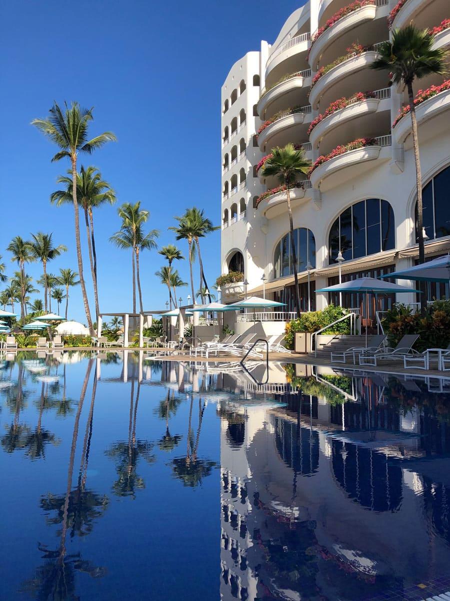 Poolside view at the Fairmont Kea Lani, Maui