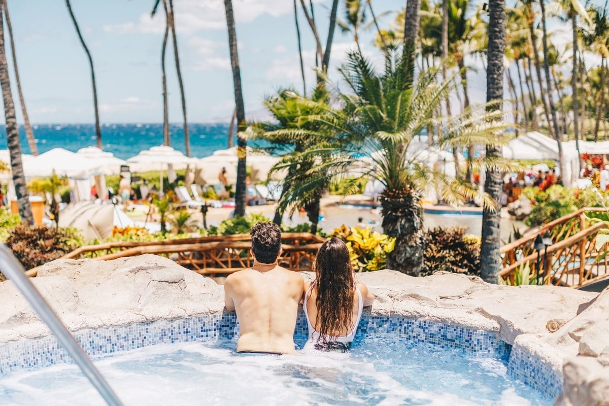 Sure, it's big and grand, but the Grand Wailea is a beautiful Maui hotel for couples too.