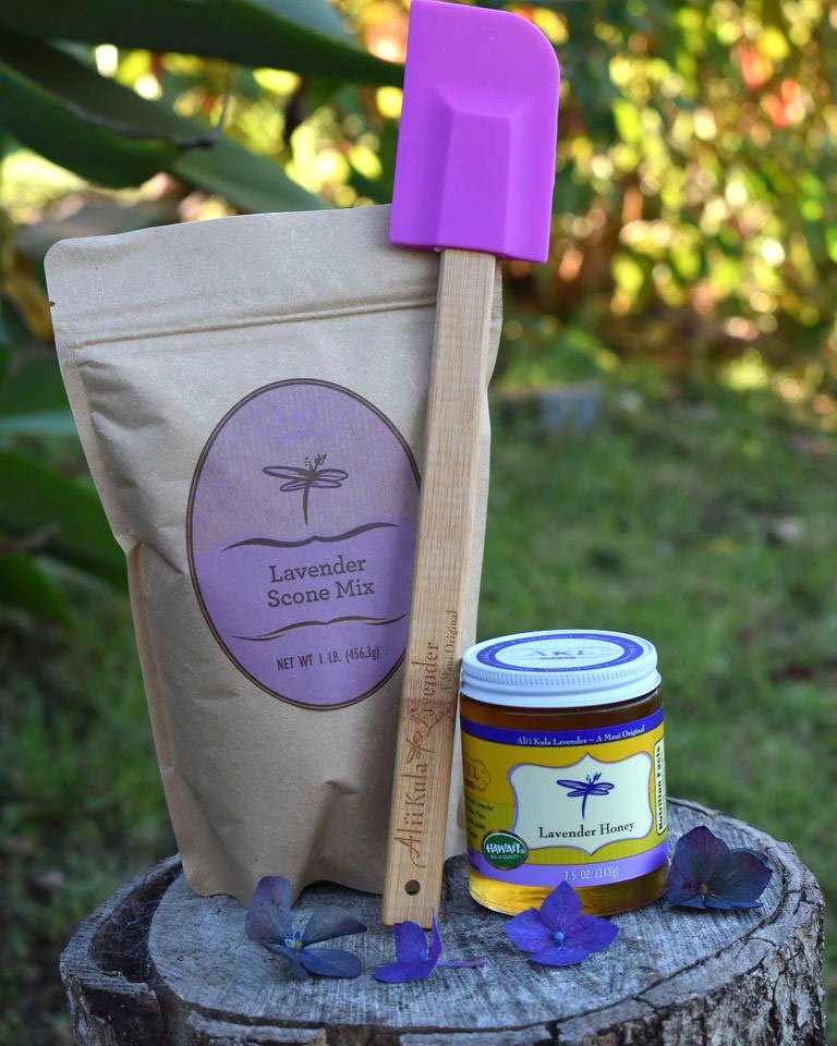 Lavender scone mix and honey at Ali'i Kula Lavender Farm