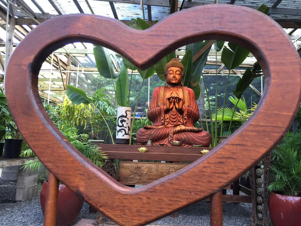 The Sacred Garden in Maui is a peaceful place to tune into your own heart.
