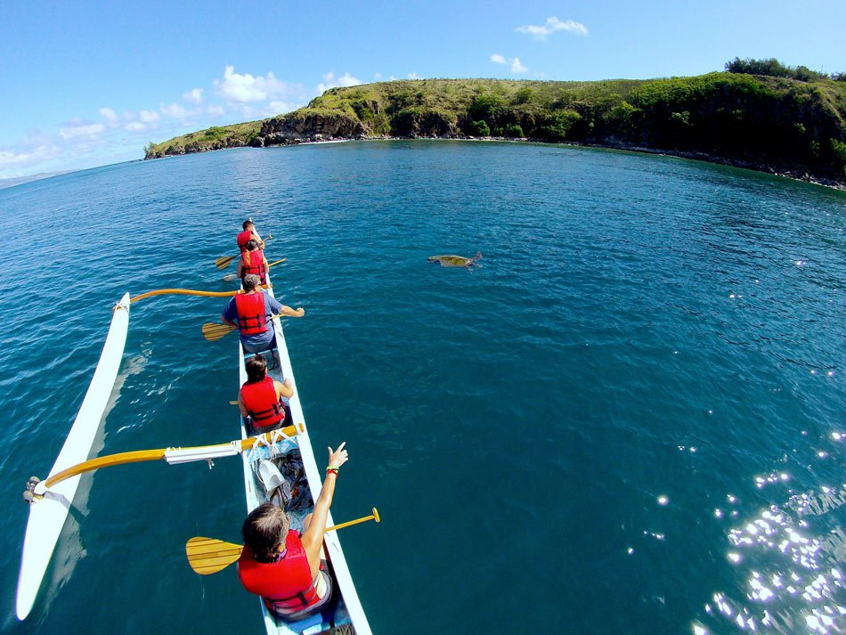 An outrigger canoe tour is one of the best romantic Maui activities for adventure-loving couples.
