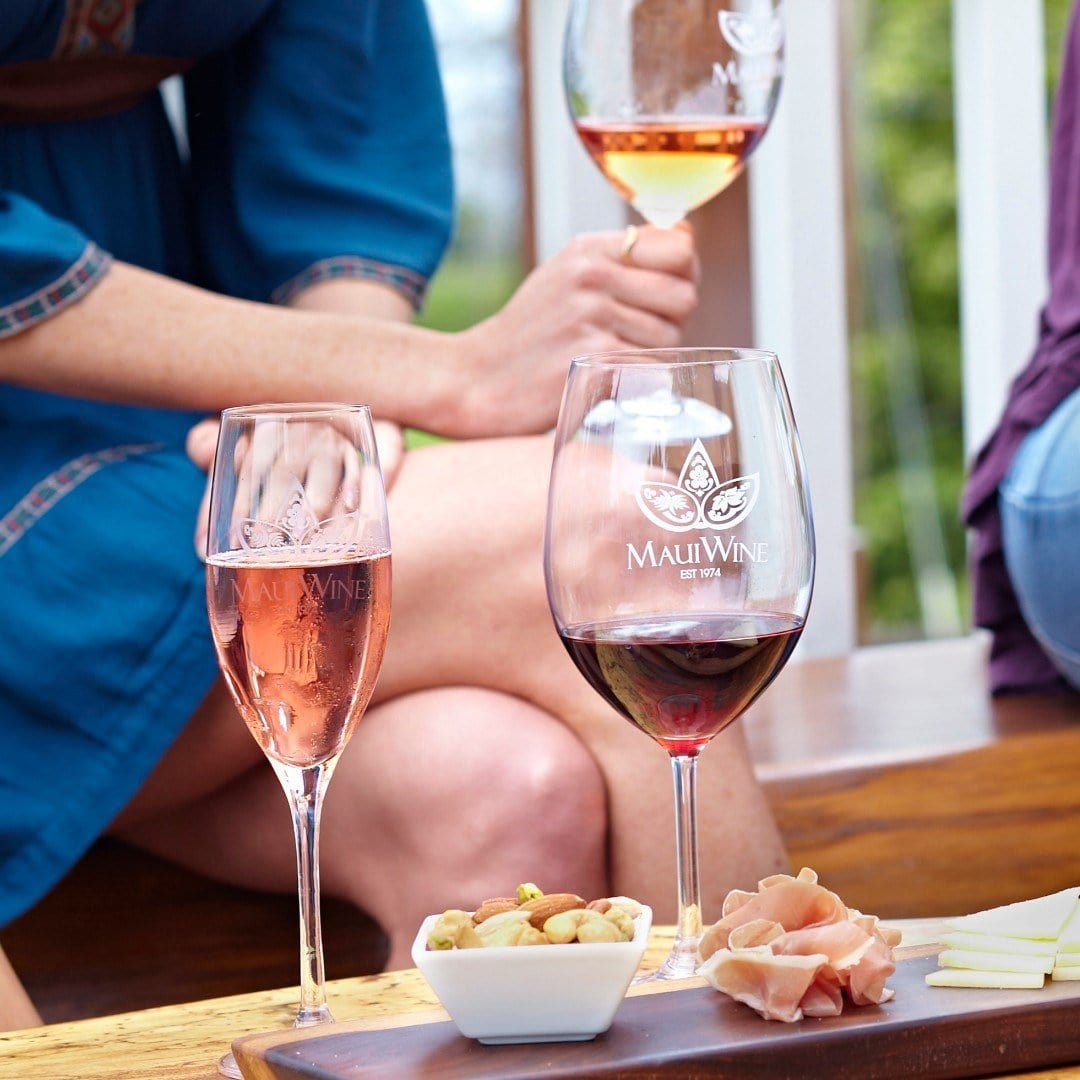 Nothing's more romantic than wine tasting together in a vineyard on Maui.