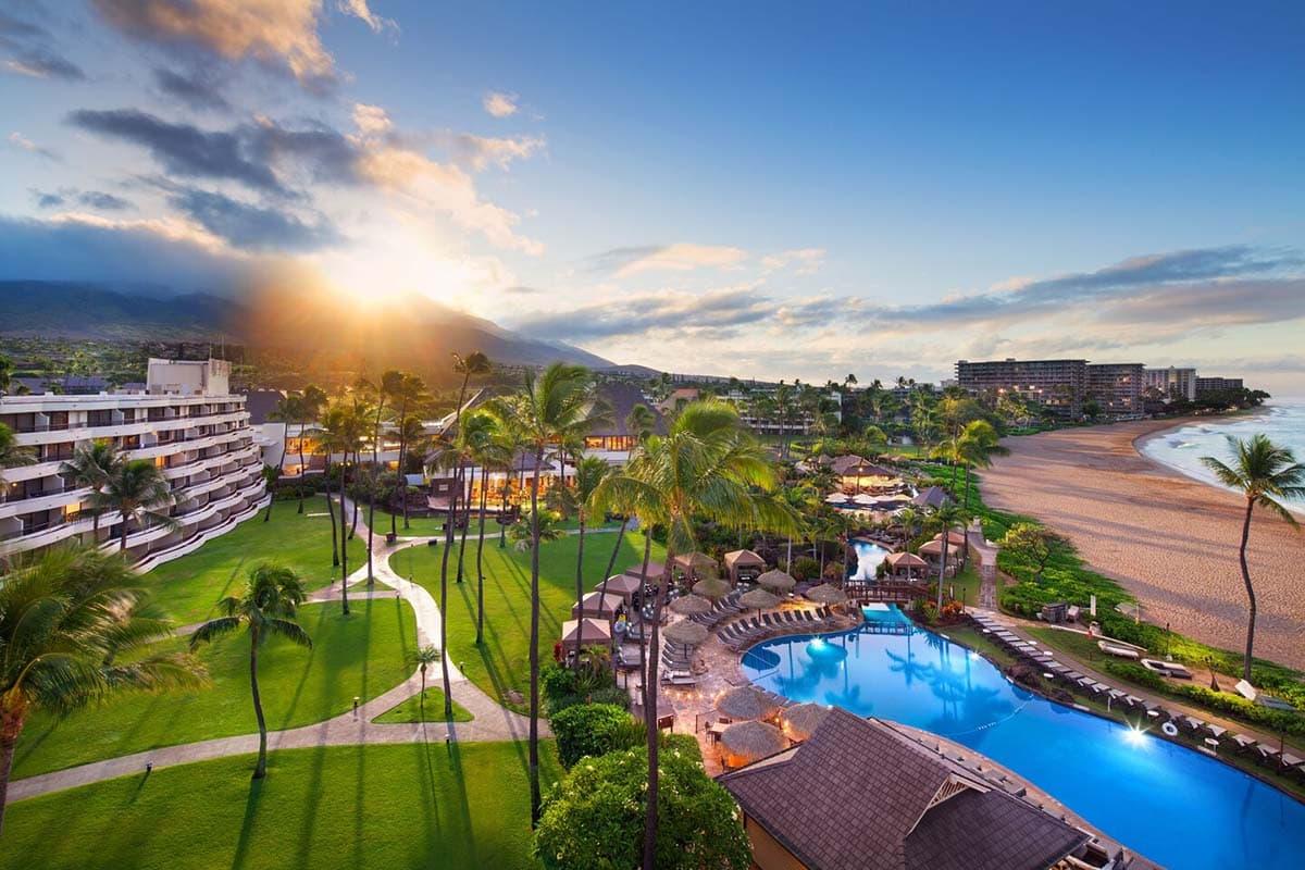 A bird's eye view of the the Sheraton Maui Resort