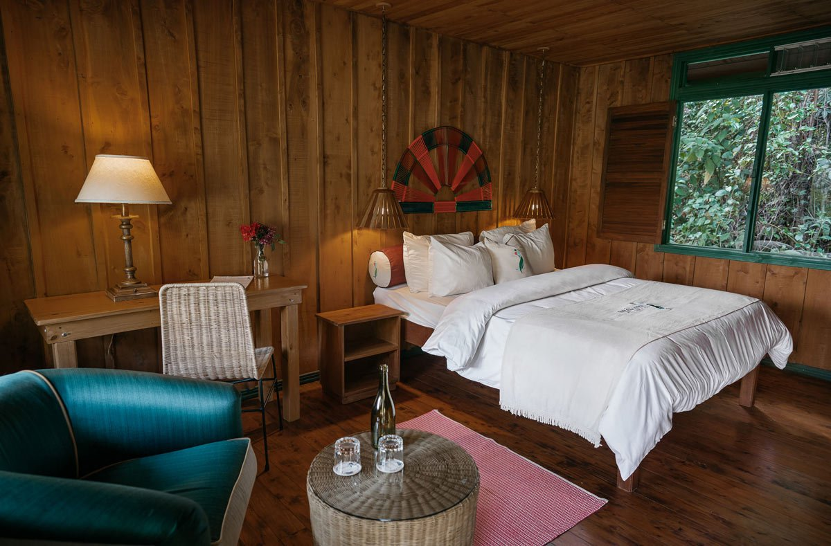 Trogon Lodge is surrounded by virgin forest and flowering gardens.