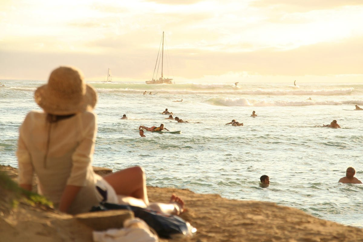 Chill out in Maui watching surfers in Paia do their tricks.