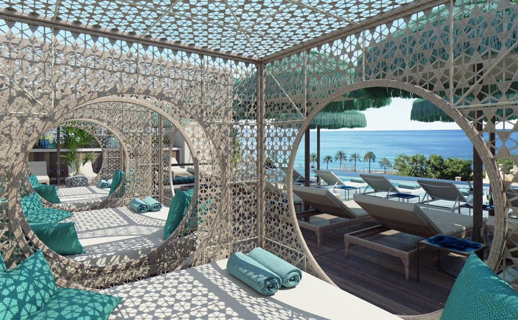 We love these Moroccan-inspired daybeds at El Llorenc Parc de la Mar.
