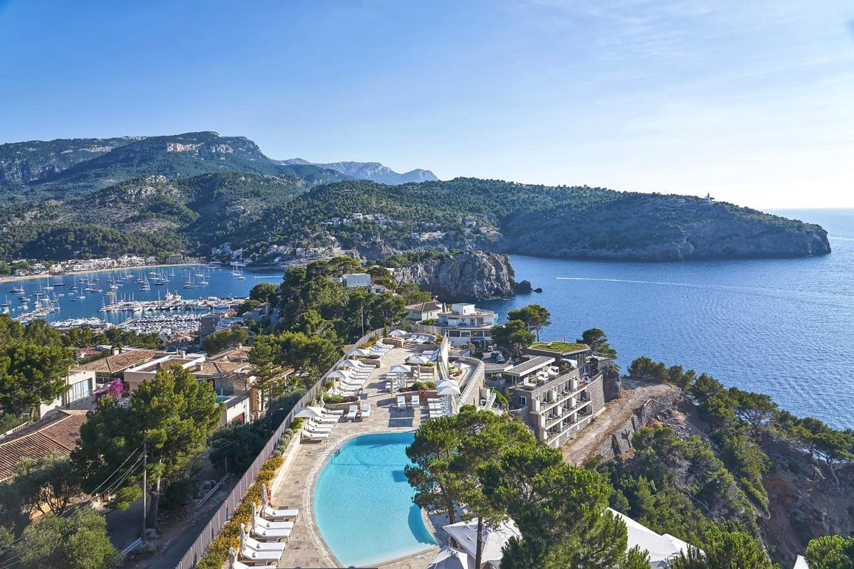 Perched on a clifftop, the Jumeirah Port Soller Hotel offers stunning views, no matter which way you look.