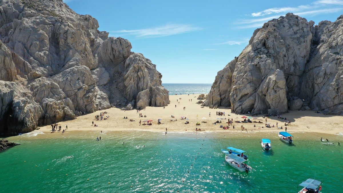 The beaches (like Lover's Beach) are always inviting but they'll be busier in Cabo in April.