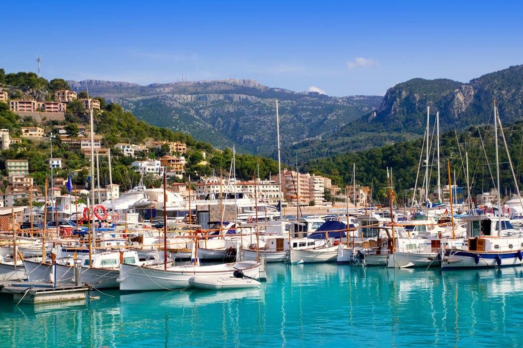 Once a small fishing village, Port de Soller is a popular seaside Mallorca destination.