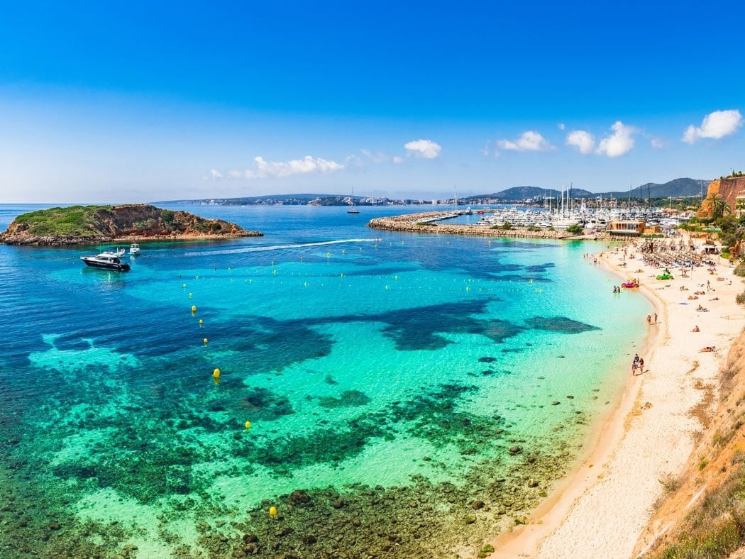 Puerto Portals is the most exclusive area in Mallorca, known for its marina and beautiful Portals Nous Beach.