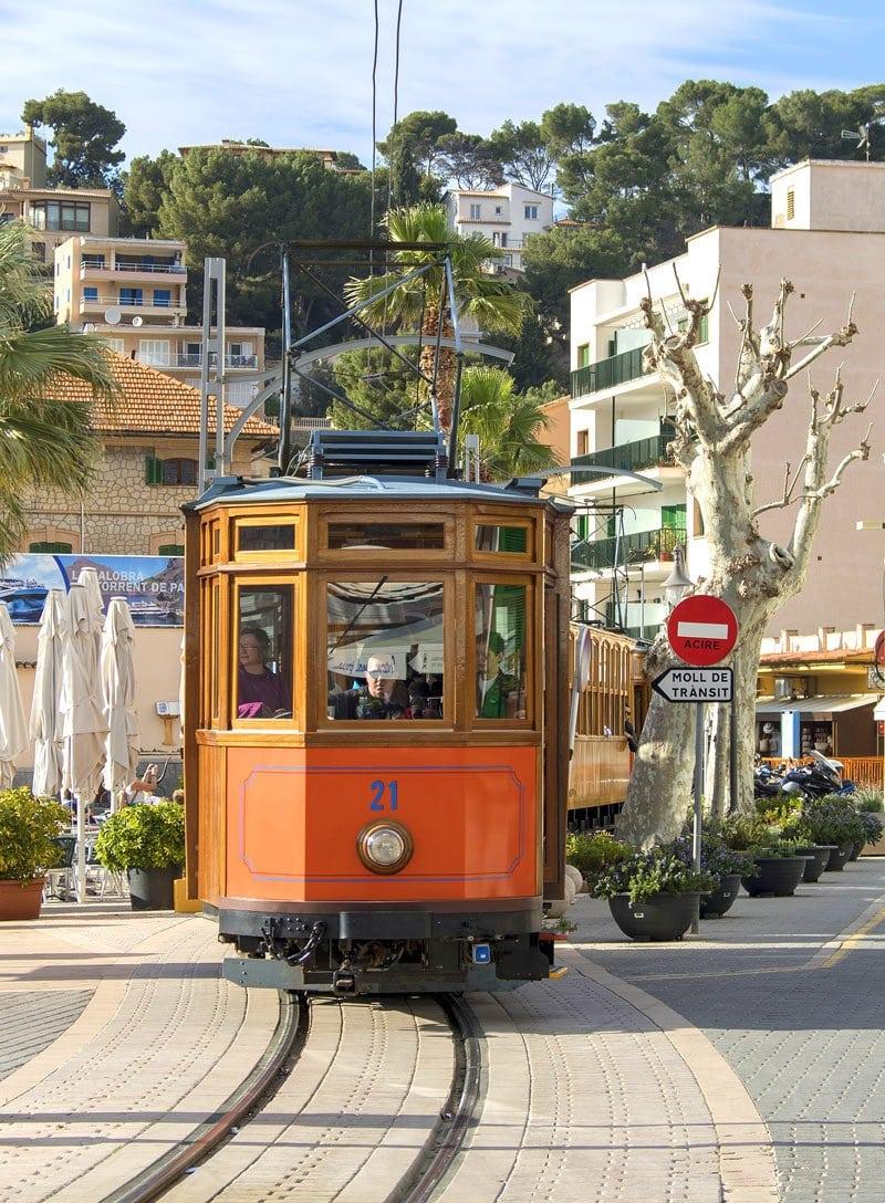 The vintage tram is a fun way get from Port de Soller to Soller.