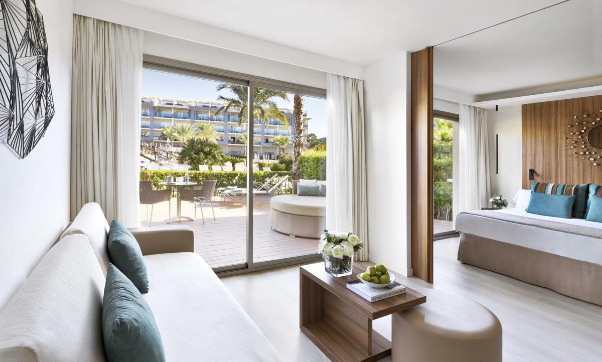 Suites are deluxe at the all-inclusive Zafiro Palace Alcudia