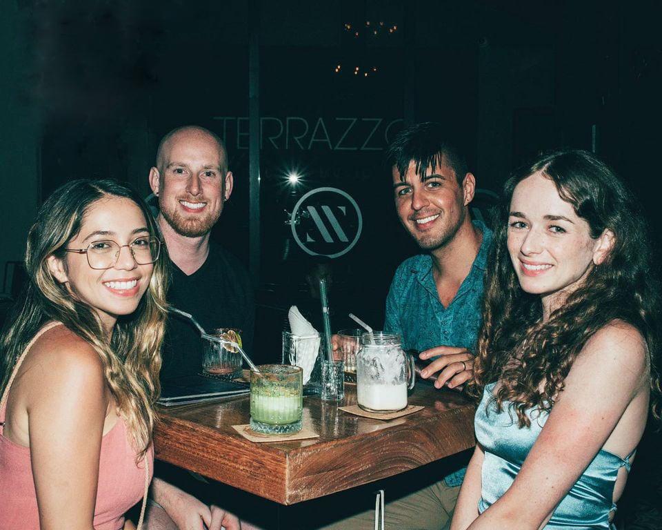 Visitors enjoy Puerto Vallarta's nightlife at Terrazzo House Music Bar.