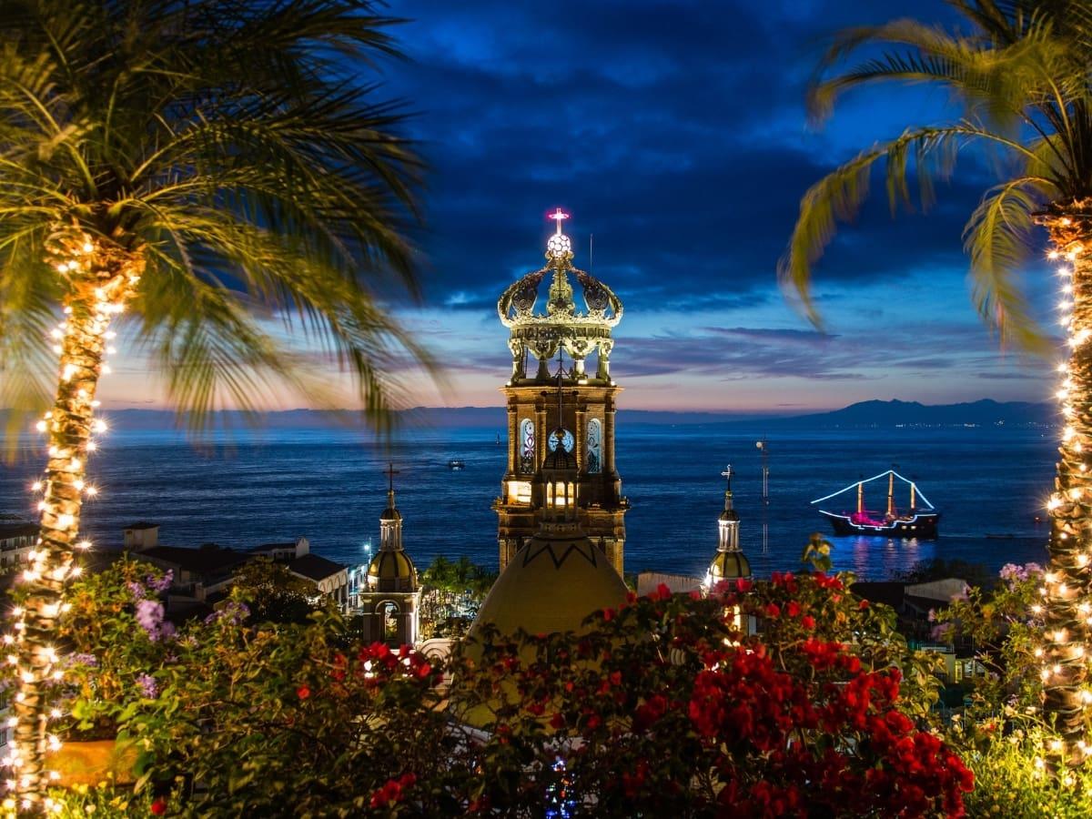 Puerto Vallarta at night is a whole new experience.