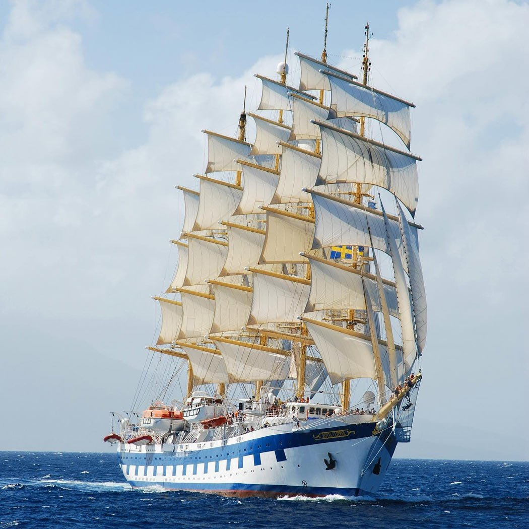 Sailing ships like the Royal Clipper are among the greenest cruise ships in the world.